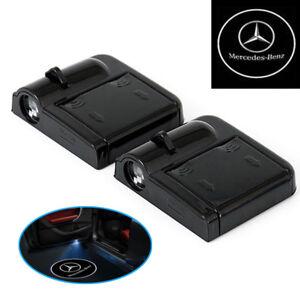 A60-2x-Wireless-Auto-Tuer-Licht-LED-Willkommen-Projector-Logo-fuer-Mercedes-Benz