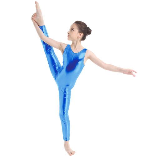 Girls Ballet Dance Leotard Gymnastics Jumpsuit Zentai Child Unitard Body Suit