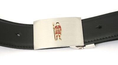 Beefeater Buckle And Belt Set Black Leather Ideal Guards Gift 031 Elegant Im Geruch