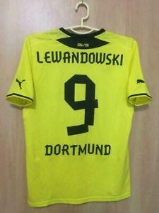 newest 35f8c 7a627 Details about BORUSSIA DORTMUND 2013/2014 HOME FOOTBALL SHIRT JERSEY TRIKOT  LEWANDOWSKI #9