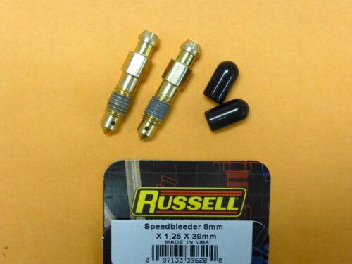 Russell 639620 Speed Bleeder 8 mm x 1.25  Thread 34 mm Overall Length 2 pcs