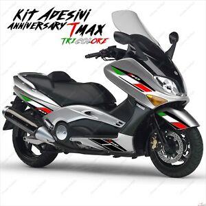 Ambitieux AdhÉsifs Anniversary Graphique Compatible Yamaha Tmax T-max 01 07 Tricolore