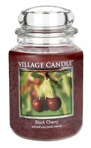 Village-Candle-Black-Cherry-Large-Jar-Double-Wick-Official-Village-Retailer