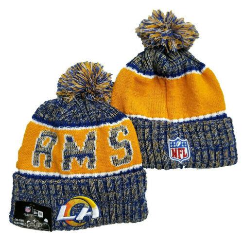 NFL 2020 Unisex Los Angeles Rams Sideline Beanie Fleece lined Sports Knit Hats