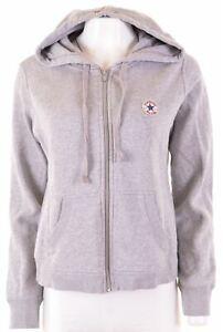 Converse-Femme-Sweat-a-Capuche-Pull-Taille-16-large-en-coton-gris-AP02