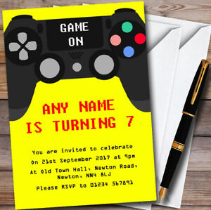 Yellow game on video gaming personalised childrens birthday party image is loading yellow game on video gaming personalised childrens birthday filmwisefo