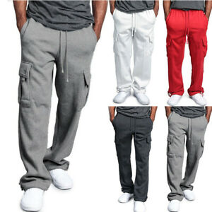 Men-Casual-Cargo-Sweatpants-Fitness-Pants-Sport-Comfy-Hip-Hop-Harem-Work-Trouser