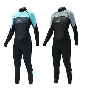 Legacy-3-2mm-Womens-Full-Wetsuit-Surf-Ladies-Steamer-Swim-Long-Wet-Suit-XS-L