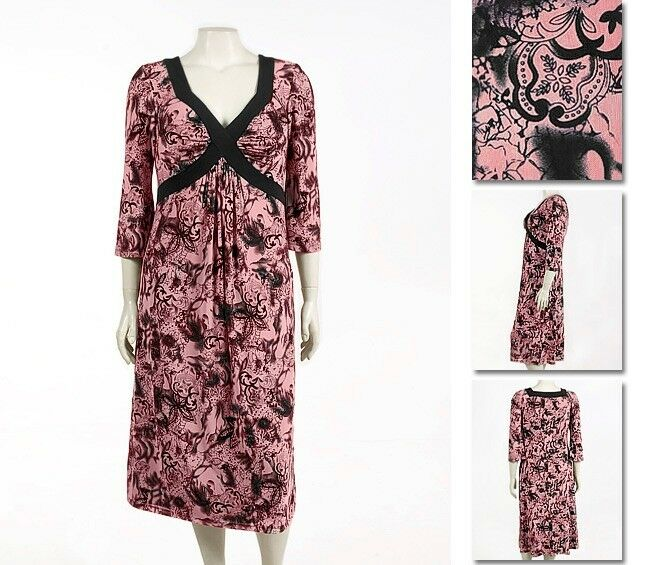 NEW   Zaftique FIORE DRESS Coral (Last One ) 4Z   28 30   4X