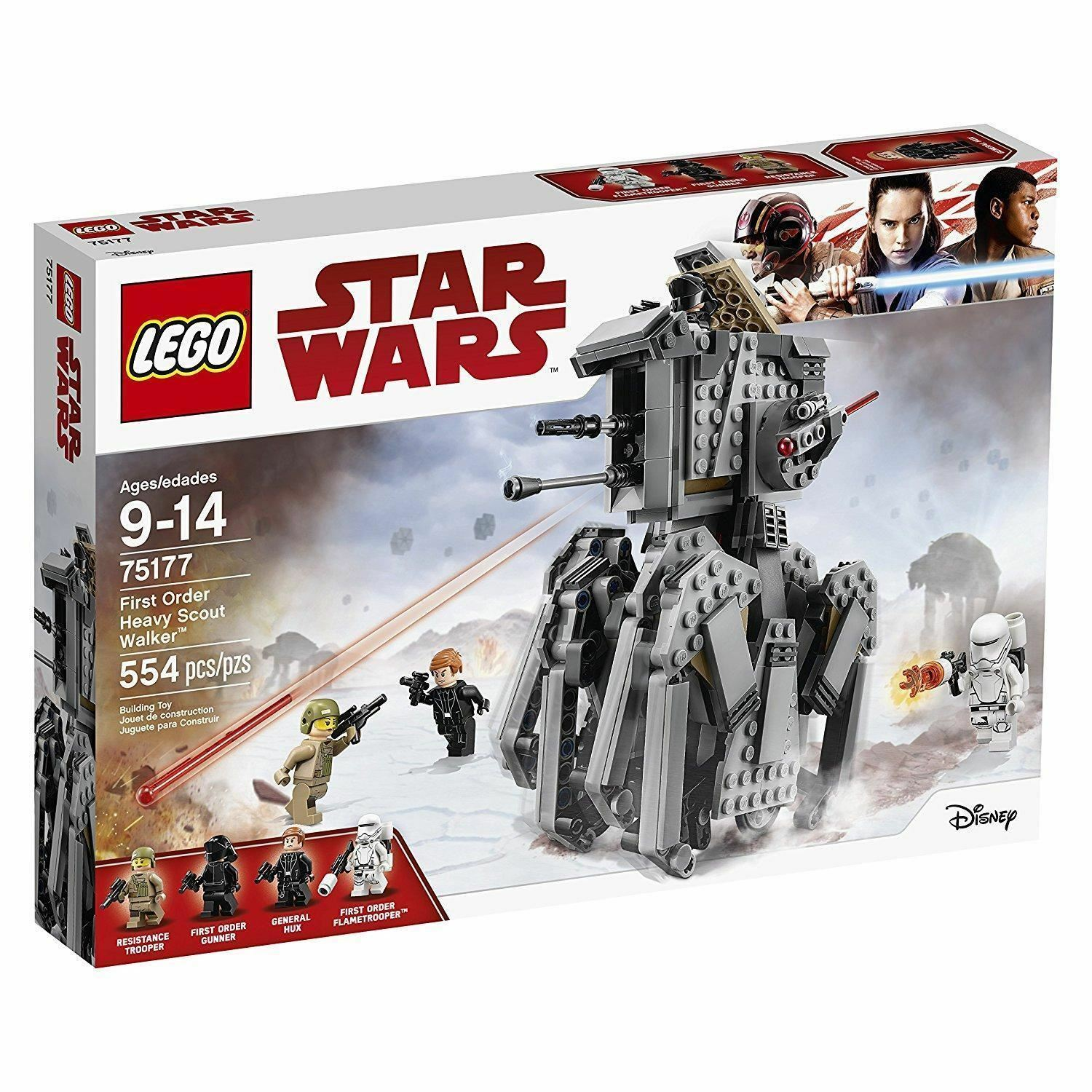 LEGO 75177 STAR WARS LAST JEDI FIRST ORDER HEAVY SCOUT WALKER