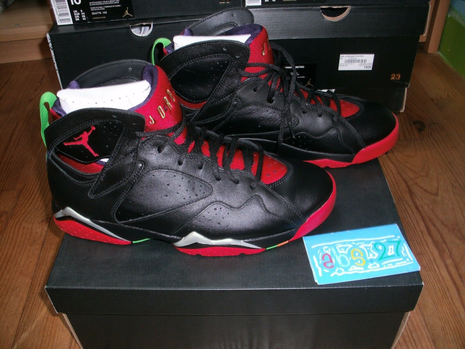 NIKE NIKE NIKE air Jordan 7 VII retro Marvin the martian 2015 44 10us 9Uk DS nero rosso 561194
