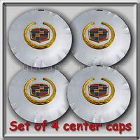 Set 4 Chrome Gold Cadillac Srx 18 Wheel Center Caps 2010-2011 Replica Hubcaps