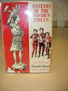 Mystery-of-the-Wooden-Indian-By-Elizabeth-Honness-Illus-D-B-Morse-1958-HC-DJ-1st
