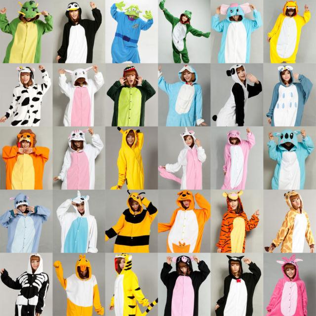 New Unisex Kigurumi Pajamas Anime Cosplay Costume Onesie Dress Hoodie Sleepwear