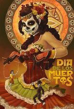 Dia De Los Muertos Marionettes Poster Print, 13x19