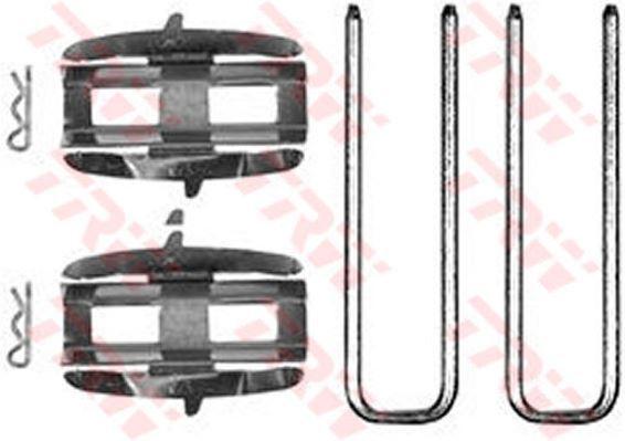 PFK137 TRW Kit D'Accessoires, Plaquettes Disque de Frein Essieu Avant
