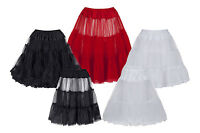 Ladies Tulle Net Petticoat Slip Underskirt For 1950s Vintage Prom & Party Dress