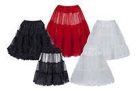 Ladies Tulle Net Petticoat Slip Underskirt For 1950s Vintage Prom & Party Dress