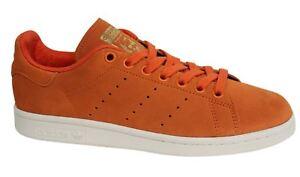 4f8f5c9e358 Adidas Orignals Stan Smith Lace Up Orange Leather Mens Trainers ...