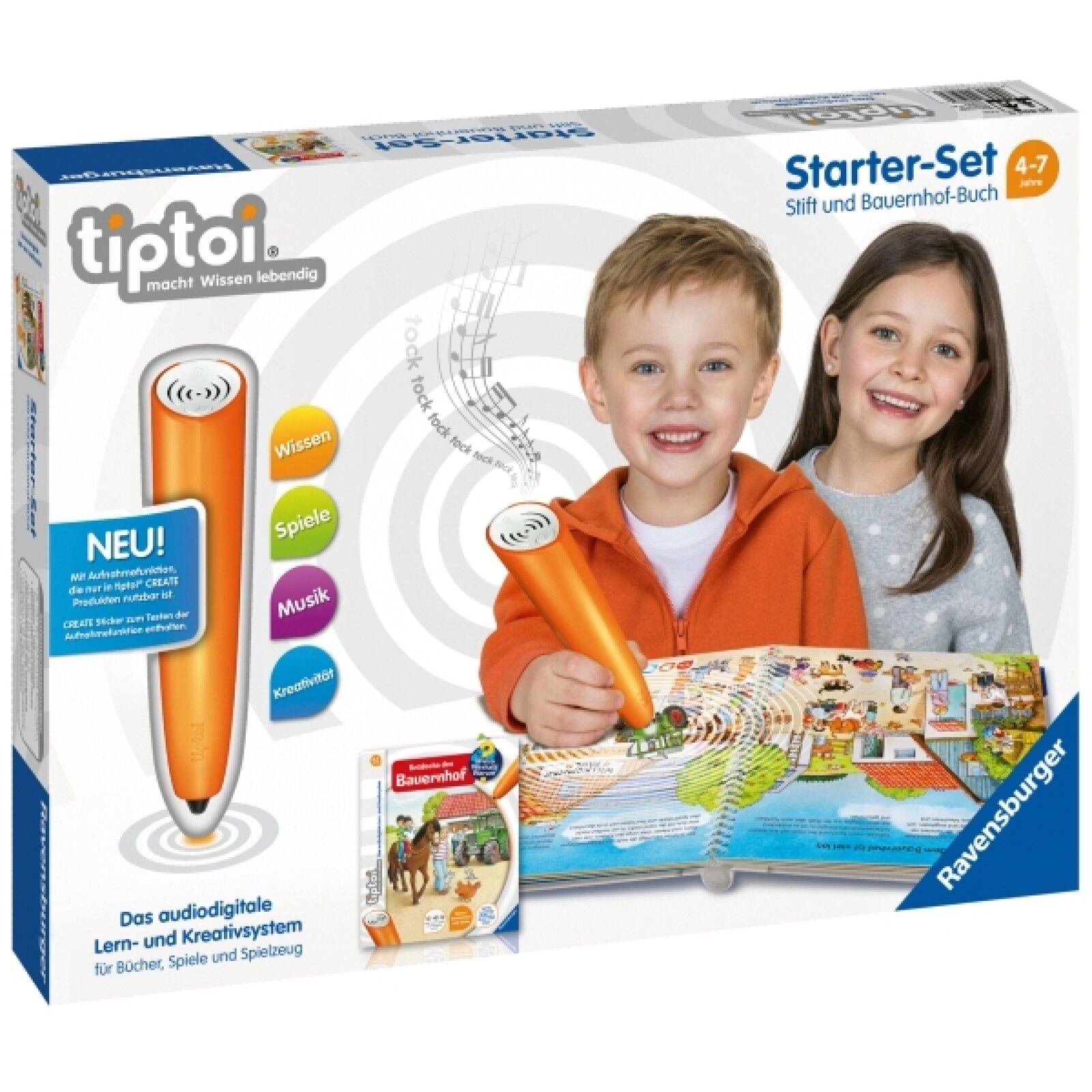 Ravensburger 8049 tiptoi® Starter-Set: Stift und Bauernhof-Buch