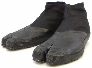 Japanese Rikio JIKA TABI Boots Ninja Shoes Low Cut Black SH3 Japan