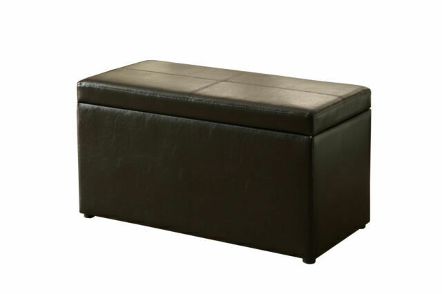 Better Homes and Gardens BH35-119-099-01 30 inch Hinged Ottoman Storage Box Brown for sale online