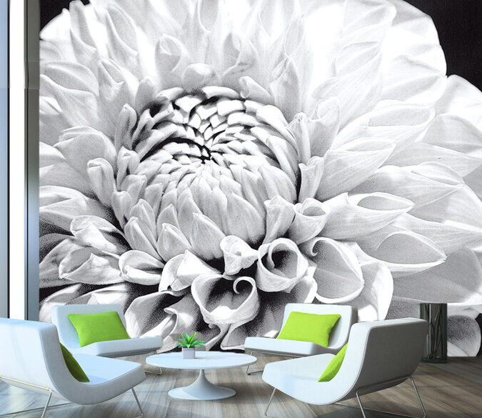 3D Farbeless flowers 1 WallPaper Murals Wall Print Decal Wall Deco AJ WALLPAPER