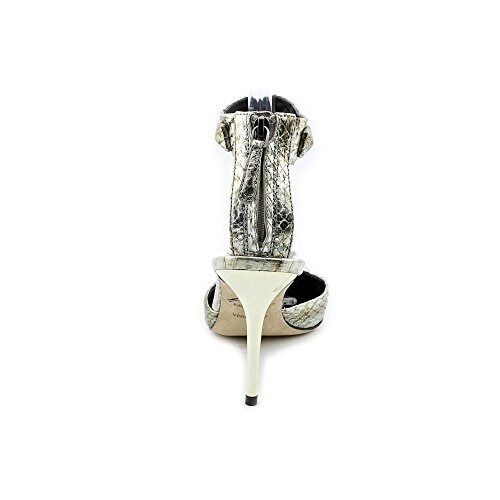 Brian Atwood Mercada Womens Womens Womens Size 5 Silver Faux Leather Pumps Heels shoes 477adf