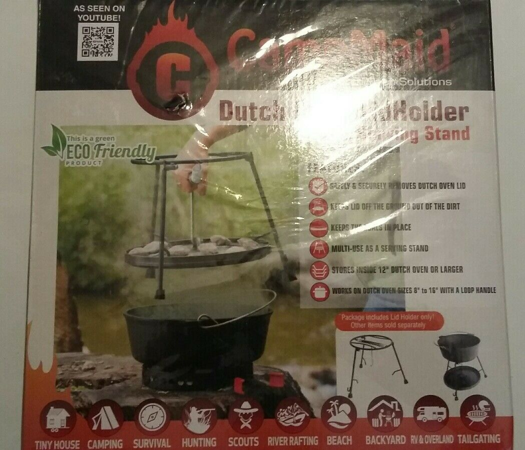 CAMPMAID  DUTCH OVEN LIDHOLDER & SERVING STAND  100% authentic