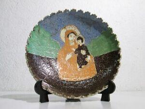Placa-de-Pared-de-Terracota-con-Figura-Madonna-Pintado-E-Grabado-Epoca-Xx-Sec