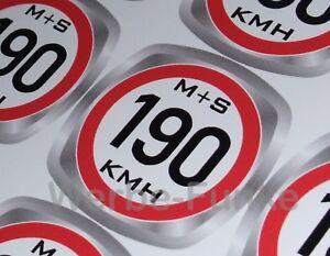 Details Zu 12 Geschwindigkeitsaufkleber 190 Kmh Für Ms Winterreifen Reifenindex 30mm