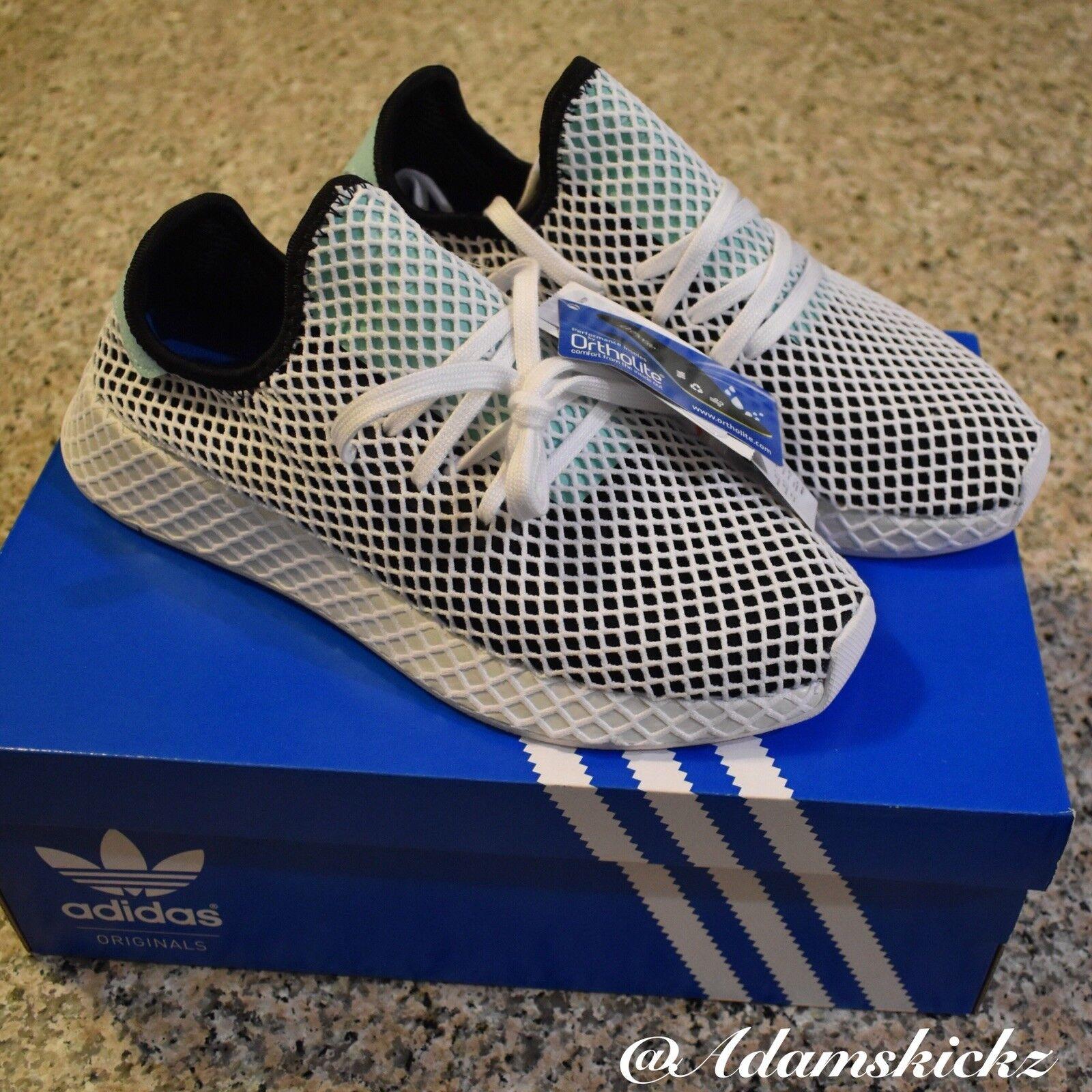 Adidas Originals Deerupt Runner White Nero CQ2626 NIB size Us Uomo's 8