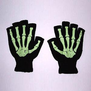 New-Goth-Fingerless-Misfit-Glow-in-the-Dark-Skeleton-Bone-Gloves-Gothic-Horror