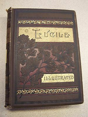 LUCILE Owen Meredith 1885 Illustrated VERY GOOD ANTIQUE BOOK!