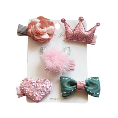 Fashion Hairpin Baby Girl Hair Clip Bow Flower Mini Barrettes Star Kids Gift/&L