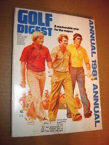 Golf Digest Annual 1981-PGA-LPGA-Nicklaus, Watson & Ballesteros cover...