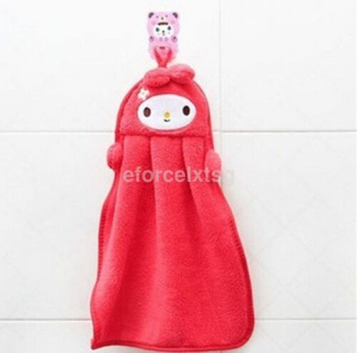 Kids Nursery Hand Towel Soft Plush Cartoon Animal Hanging Wipe Bathing Towel CA