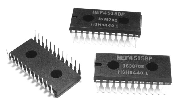 1x Philips HEF4515BP Decoder/driver Inverted Output Pdip24