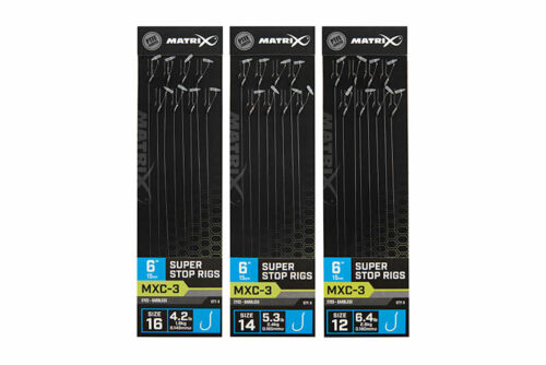 NEW FOR 2021 Matrix MXC-3 SUPER STOP RIGS 15CM//6INS Ready Tied Hair rigs