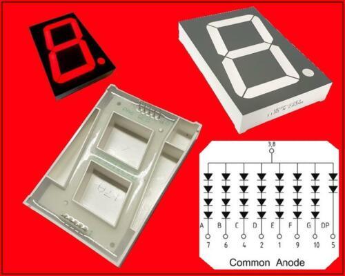 Hdsp-c2e1 led display visualización 7-segmento 1 digit common ánodo rojo 8v 1 trozo