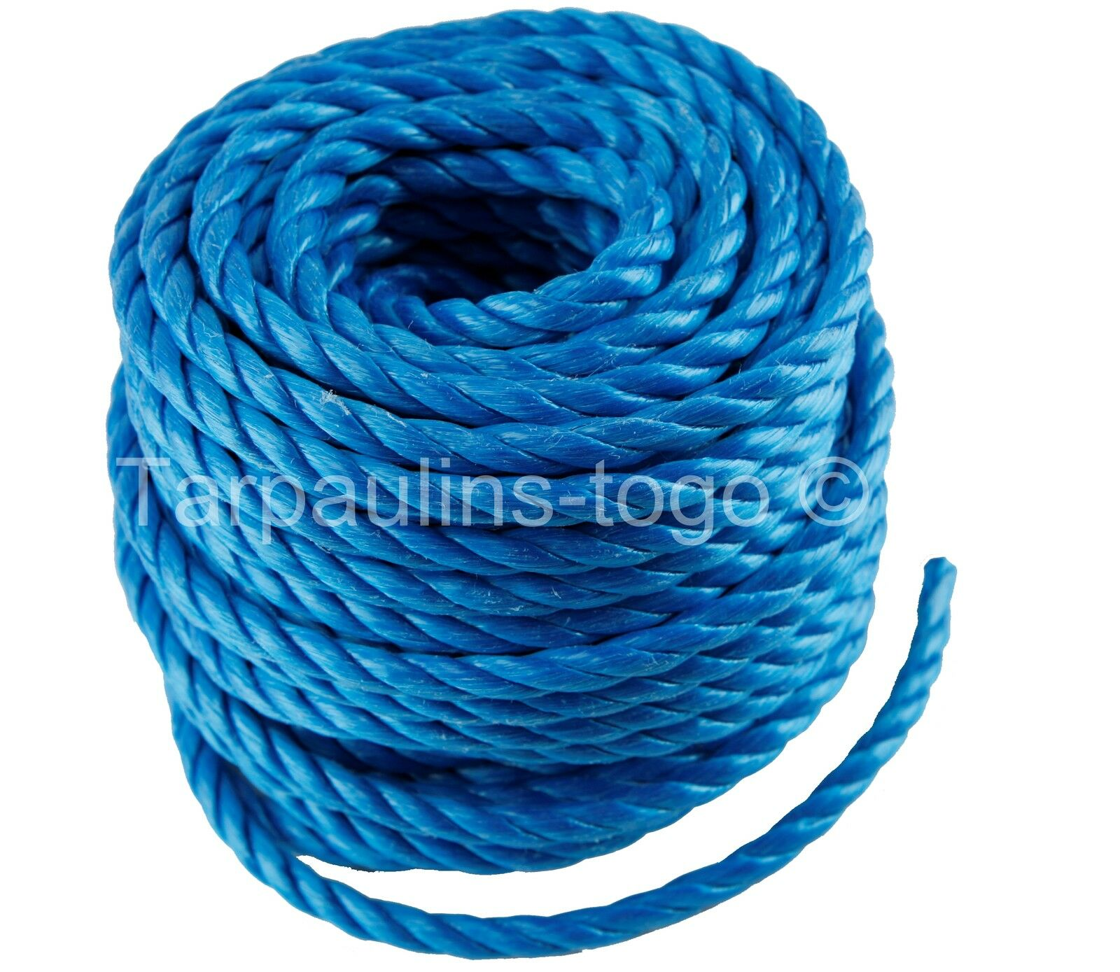 Poly Rope Polypropylene Coils Tarpaulin Camping Agriculture Marine bluee or White