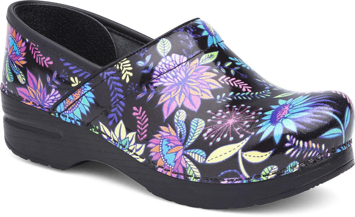 Dansko Professional Clog Wildflower Patent Women's sizes 36-42/6-12 NEW!!!
