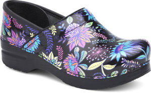 Dansko Professional Clog Wildflower Patent Women's sizes 36-42/6-12 NEW!!!