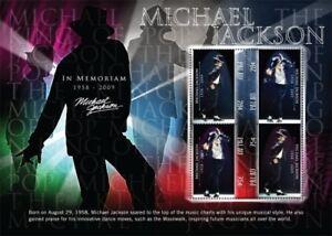 Palau-Michael-Jackson-in-Memoriam-1958-2009-Sheet-of-4-MNH