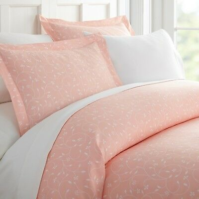 Home Collection Premium Ultra Soft Pink Buds Pattern 3 Piece Duvet Cover Set