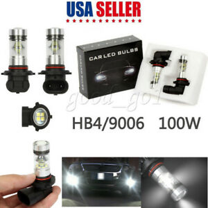 2x9006 HB4 6000K 100W LED HID White 20-SMD For Fog Driving DRL Light Bulbs New
