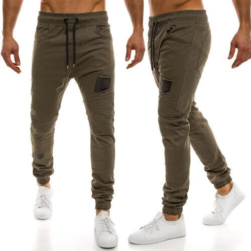 OZONEE Uomo chinojogger Cassual jogg Chino Pants Pantaloni lunghi cavallo basso pants Athletic 829
