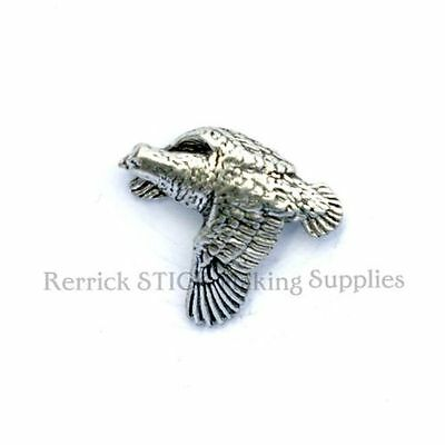 ONE PEWTER BADGE FOR WALKING STICK MAKING SEA TROUT