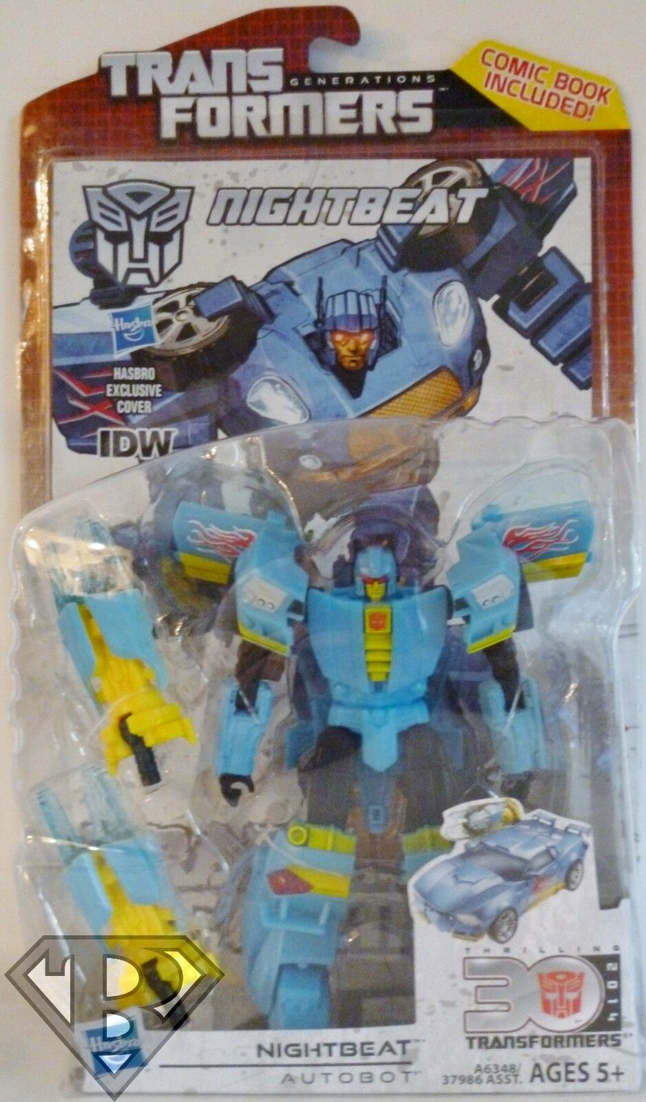 Transformers Generations Thrilling 30 Nightbeat with Comic Book New MOSC
