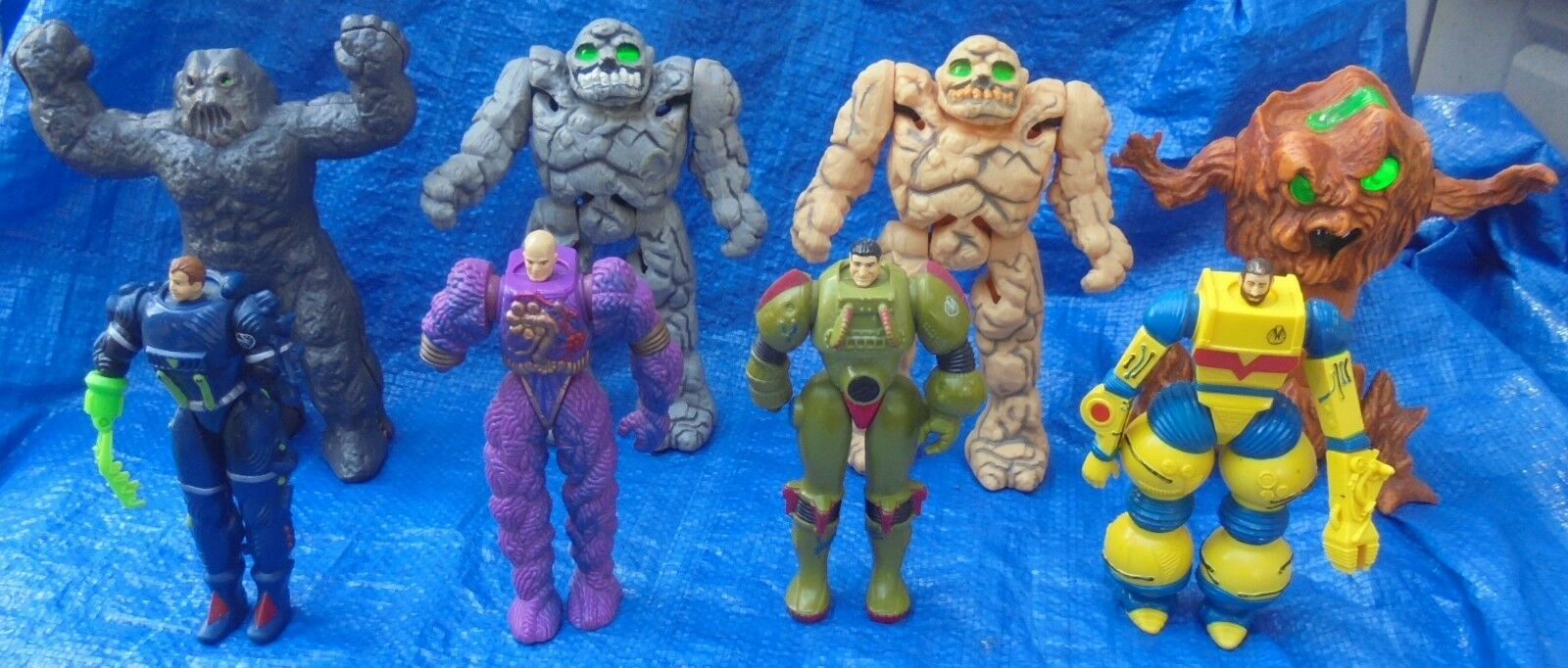 The Inhumanoids Action Figure Lot Hasbro Redlen Earth Corps Magnokor Granok 1986